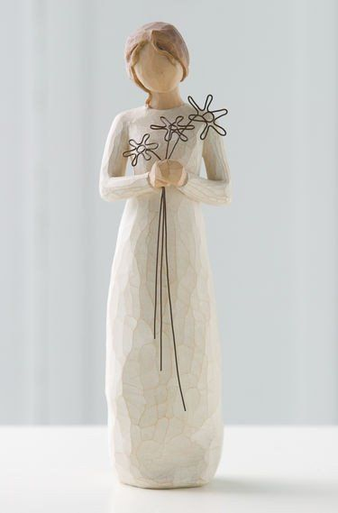 Grateful - Willow Tree Figurine - The Shabby Shed  Sentiment: I'm so grateful for your friendship
