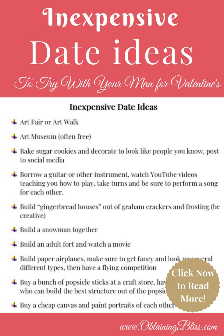 Looking for some great ideas for dates but don't want to break your tight budget? To keep your marriage strong you should make date night a priority. Check out over 50+ inexpensive date ideas that you can try with your man.