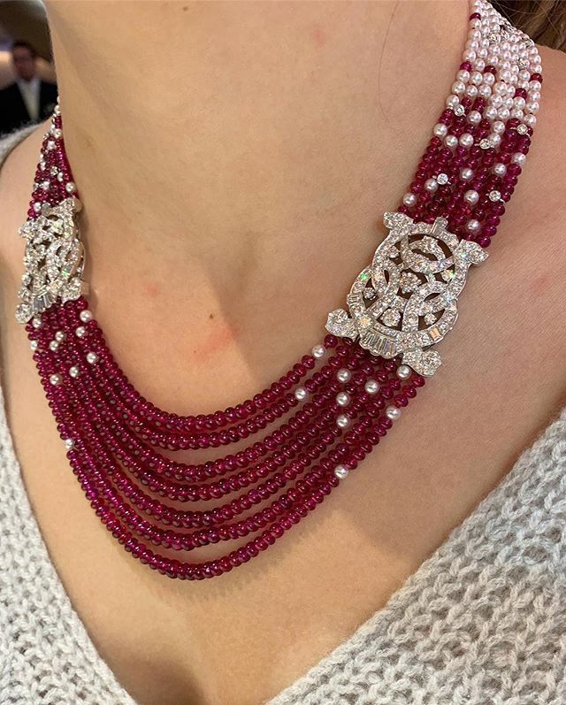 So in love with this new ruby, pearl and diamond n…