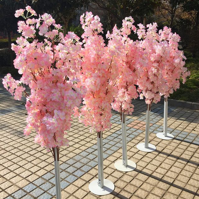Pin By Jill Thompson On Aisle Decoration Ideas Artificial Cherry Blossom Tree Cherry Blossom Decor Cherry Blossom Tree