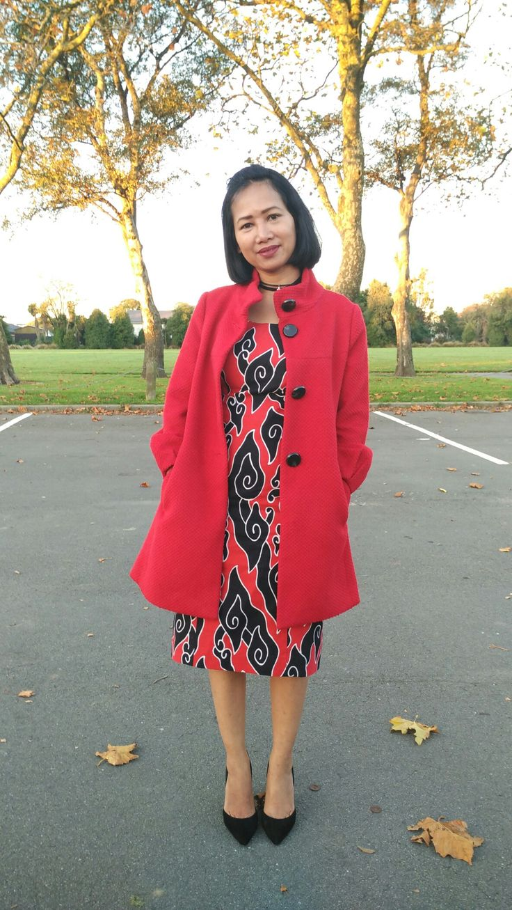 Batik mega mendung dress
