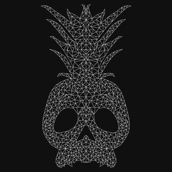 Geometric Skull/Pineapple - White
