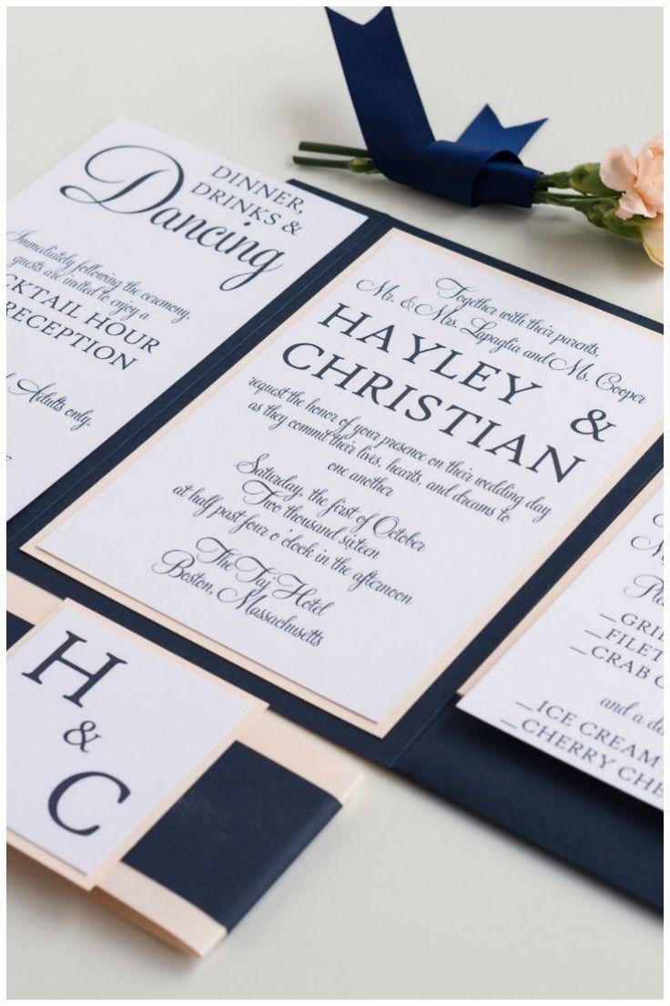 25 Best Ideas About Navy Wedding Invitations On Pinterest
