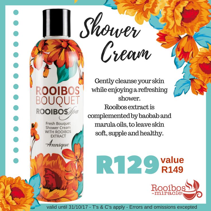 Fresh Bouquet Shower Cream | Annique Gently cleanse your skin while enjoying a refreshing shower. Rooibos extract is complemented by baobab and marula oils, to leave skin soft, supple and healthy.  #Annique #Rooibosmiracle #October #Specials