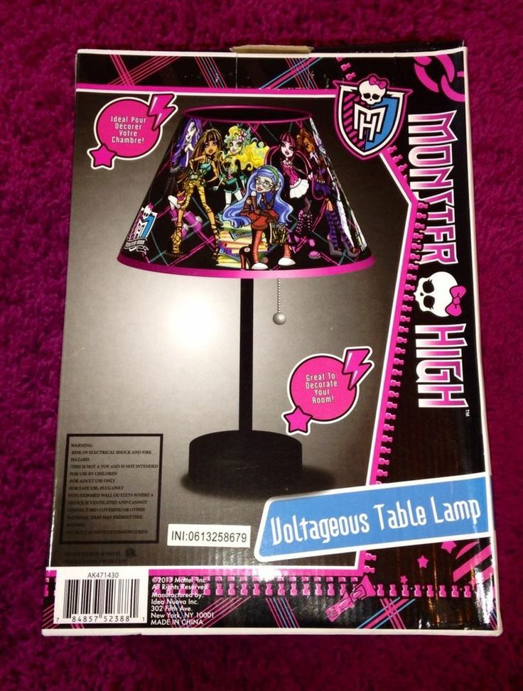 Monster High Voltageous Table Lamp NEW Room Decor