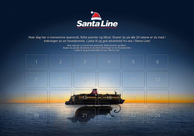Sjekk ut Stena Lines julekalender Svar på spørsmål og vinn premier og reiser fra Stena Line!