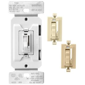 Cooper Wiring Devices Trace 8-Amp White/Ivory/Almond Dimmer