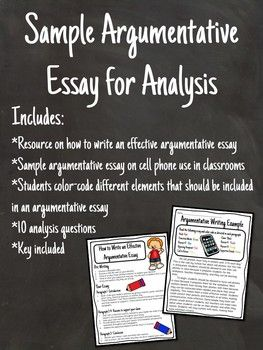 Argumentative Essay Writing Sample For Analysis With Questions Cell  Argumentative Essays On Cell Phones Guide For Writing An Effective  Argumentative Essay Student Example Students Will Colorcode The Essay  And Then Answer  Persuasive Essay Ideas For High School also Business Plan Writers In Fort Worth Texas  Modest Proposal Essay Examples