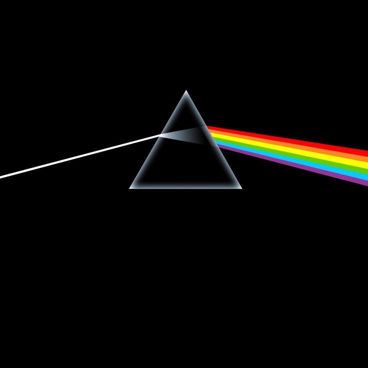 """Pink Floyd - """"The Dark Side of the Moon"""" (1973). Artwork by George Hardie"""