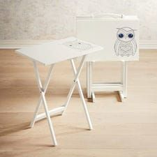 Owl TV Tray Set