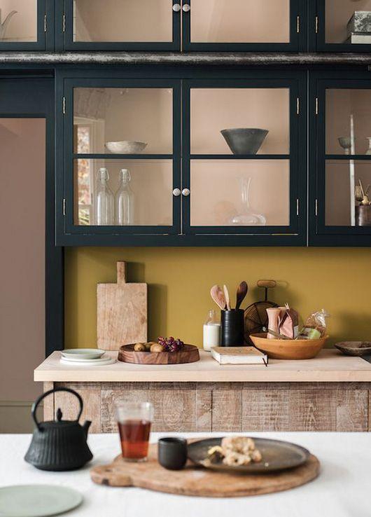darkly delicious kitchen cabinets.