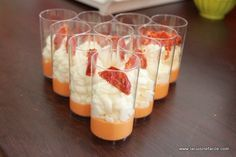 Verrine à la mousse de chorizo et chantilly de chèvre fraisLa Cuisine Facile | La Cuisine Facile