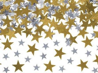 Konfetti csillagok
