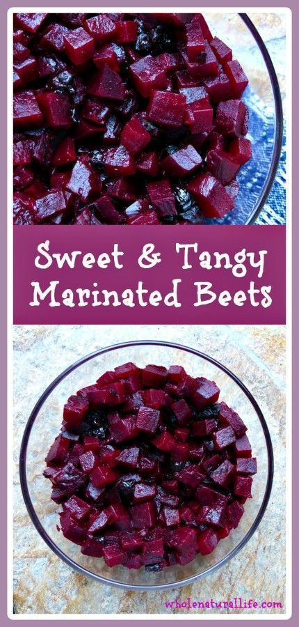 Sweet and Tangy Marinated Beets. A healthy, real food recipe; vegan, Paleo, gluten-free. refined sugar-free.