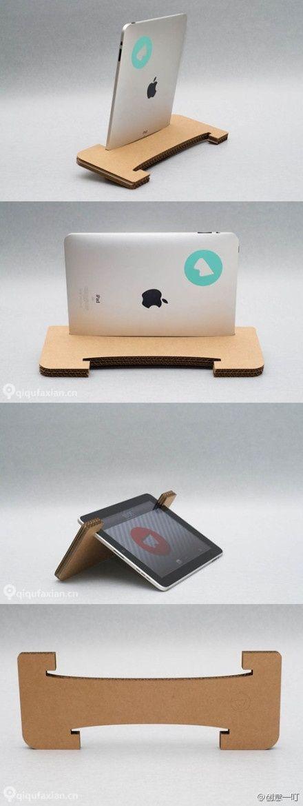 DIY Cardboard iPad Tablet Stand