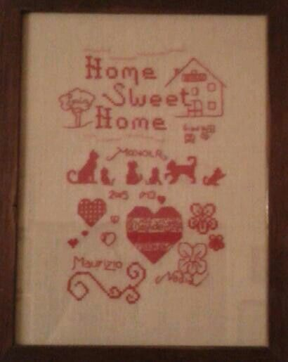 Cross stitch home sweet home