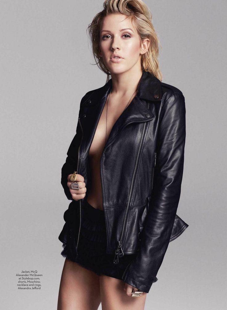 Ellie Goulding sexy et rebelle pose nue sous son blouson ...