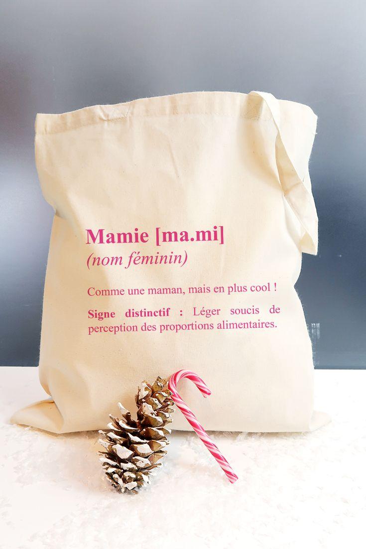 Tote bag cadeau Mamie   Idée cadeau mamie, Cadeau mamie, Cadeaux