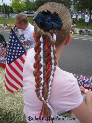 Vertical American Flag Hairstyle (3)