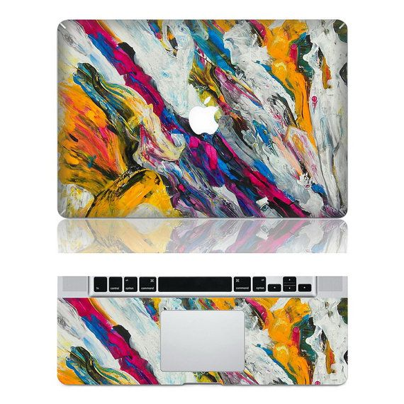 Flowing Color --  Mac Protection Decal Mac Full-cover Decal Laptop Art Decal Skin Sticker Cover for Apple Macbook Pro/ Macbook Air/ iPad2