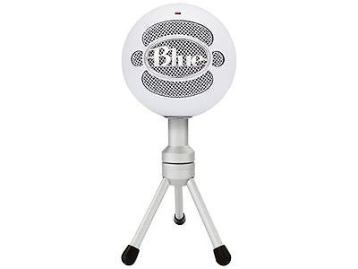 ﹩49.99. Blue Microphones Snowball iCE Microphone - White   Manufacturer - Blue Microphones, Usage - Professional, Mount Type - None, Frequency Response - 40-18000Hz, - Musical Instruments, Connectivity - Cable, Type - Condenser Microphone, Description - It's never been easier to get high quality audio with your computer!Home, office, anywhere-- the Snowball iCE USB microphone delivers HD-quality audio that's light-years ahead of your computer&#0