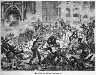 The June Rebellion, or the Paris Uprising of 1832, was an unsuccessful, anti-monarchist insurrection of Parisian Republicans—largely students—from June 5 to June 6, 1832. The rebellion was the last outbreak of violence linked with the July Revolution. Author Victor Hugo described the rebellion in his novel Les Misérables.