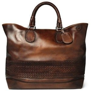 Gucci Woven Leather Holdall Bag UpscaleHype - LOVE, LOVE, LOVE THIS!