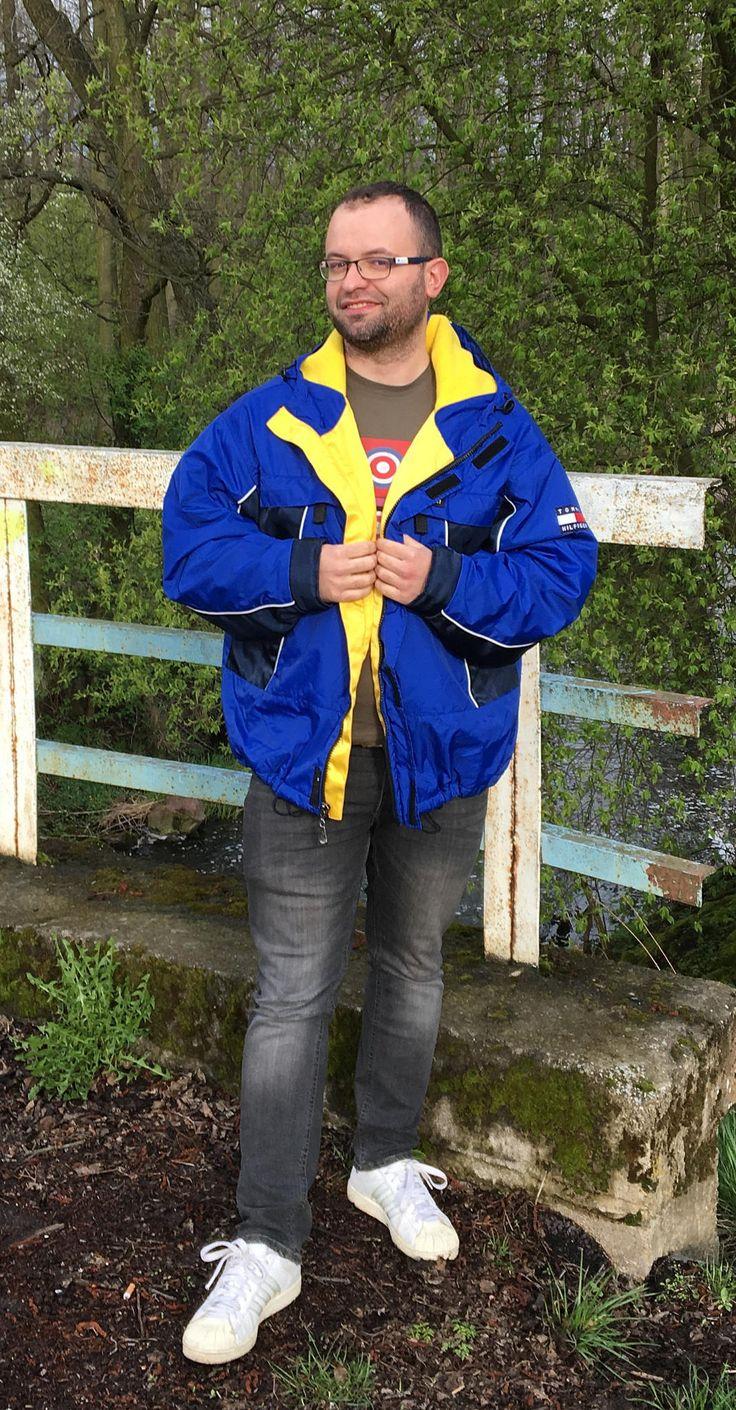 Vintage Tommy Hilfiger Windbreaker Jacket by SweetSpicyVintage on Etsy