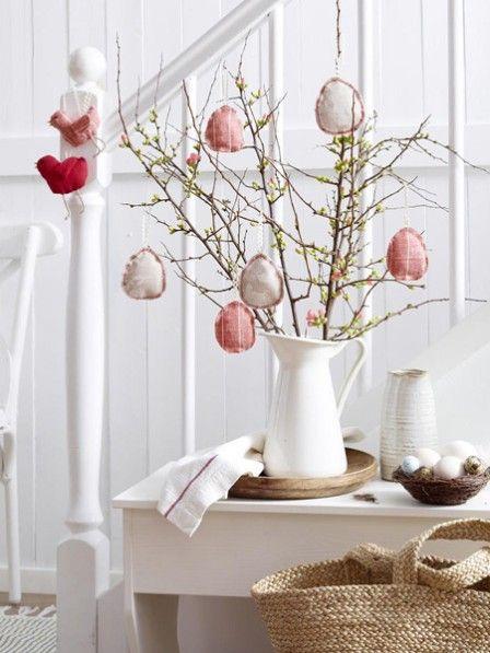 dekorative ostereier Spitze weiß ideen basteln filigran