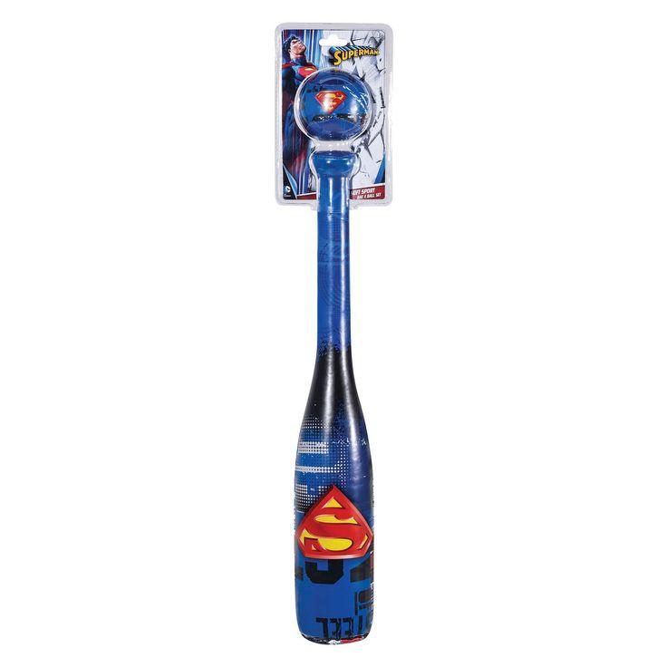 Franklin Sports Soft Sport Bat & Ball Set-Superman