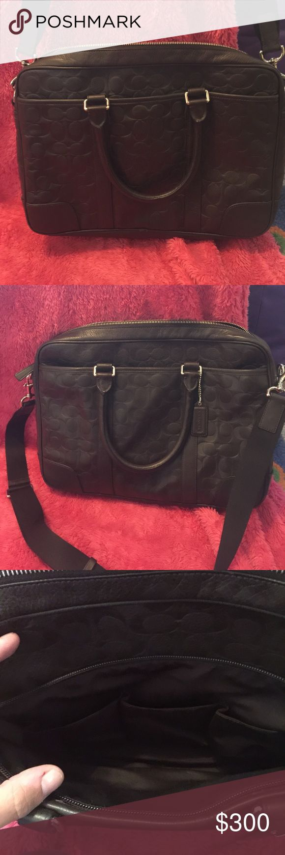 Beautiful Coach Briefcase Brown signature Coach leather briefcase. Like new in excellent condition. Only used twice. Coach Bags Briefcases