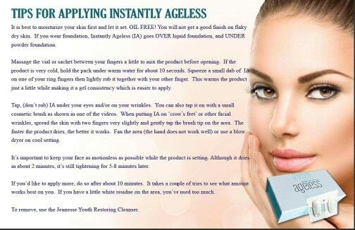 Tips for applying Instantly Ageless.. buy your @ www.changeurlife.jeunesseglobal.com