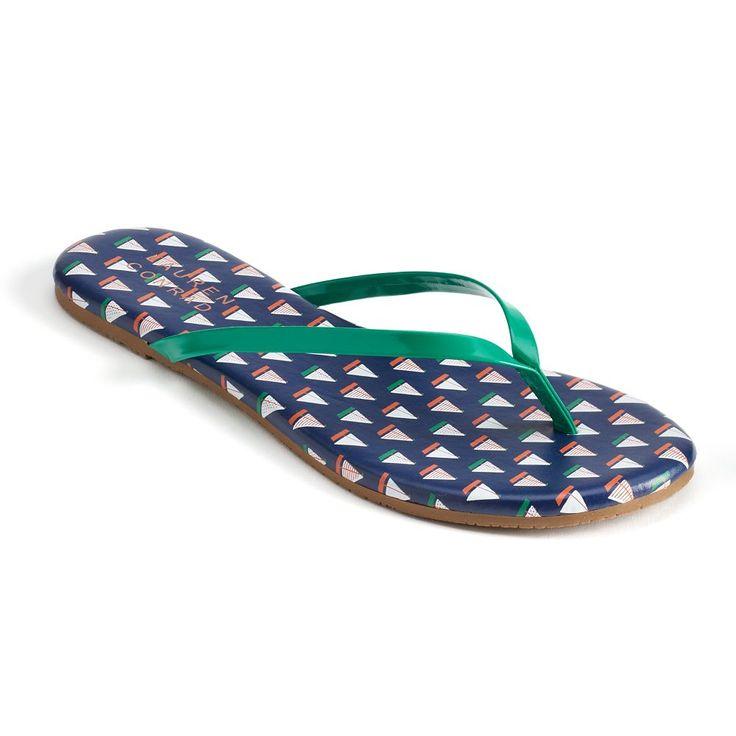 LC Lauren Conrad Pixii Women's Flip Flops, Size: 10, Blue (Navy)