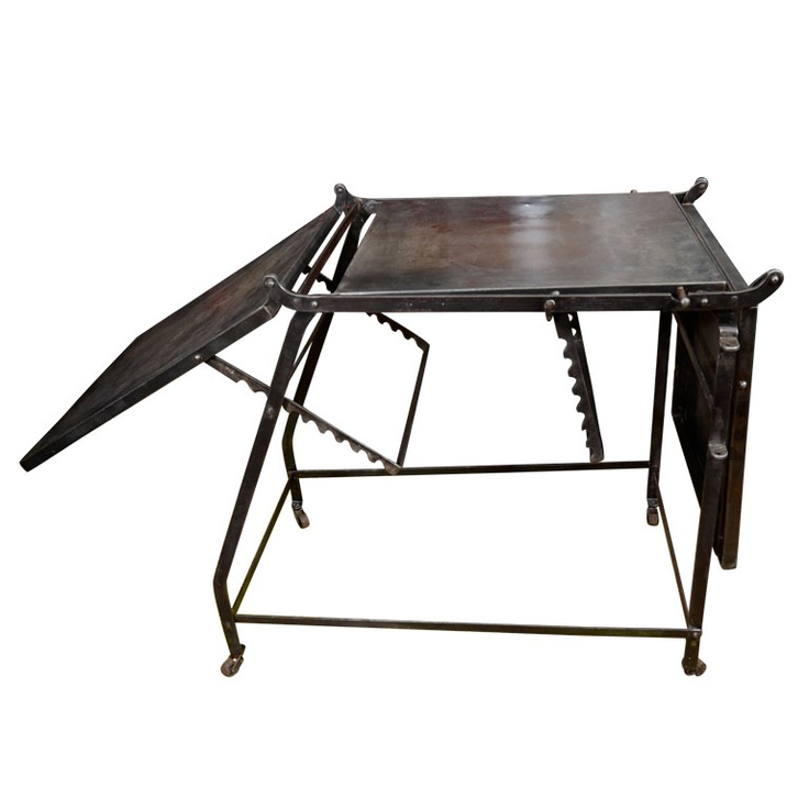 French Industrial Antique Folding Table