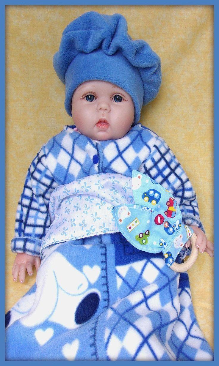 Couverture courtepointe bleu motif ours nourrisson enfant couffin berceau