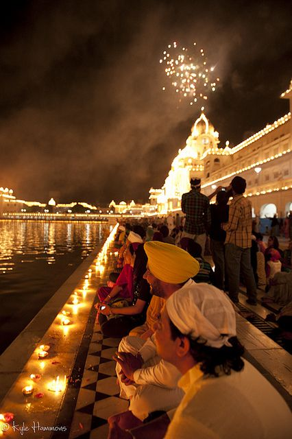 Golden Temple, Amritsar, India by Kyle Hammons on Flickr - Fireworks explode above the Golden Temple in Amritsar, India during the annual Baisakhi festival