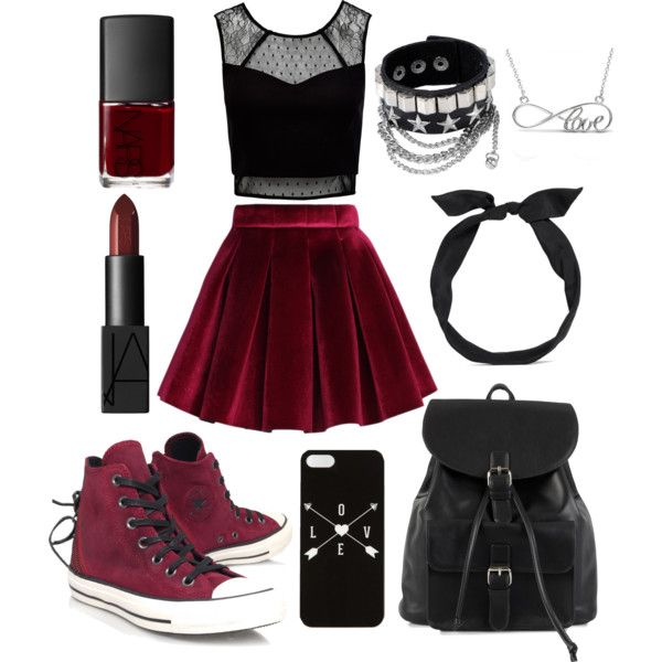 Accettazione #24 by relitalestaria on Polyvore featuring polyvore, fashion, style, Forever New, Chicwish, Converse, NLY Accessories, Allurez, yunotme and NARS Cosmetics