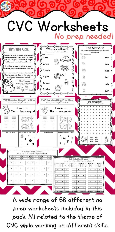 The 25+ best Cvc worksheets ideas on Pinterest | Phonics ...
