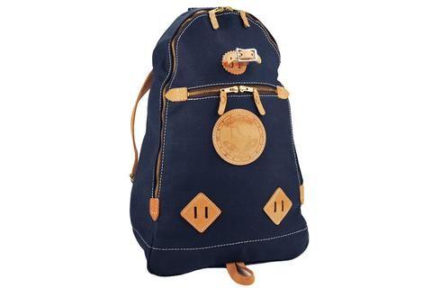 YUKETEN-Triangle Canvas Backpack (Navy)