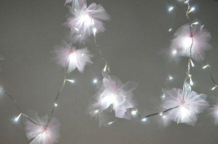 Tulle fairy lights