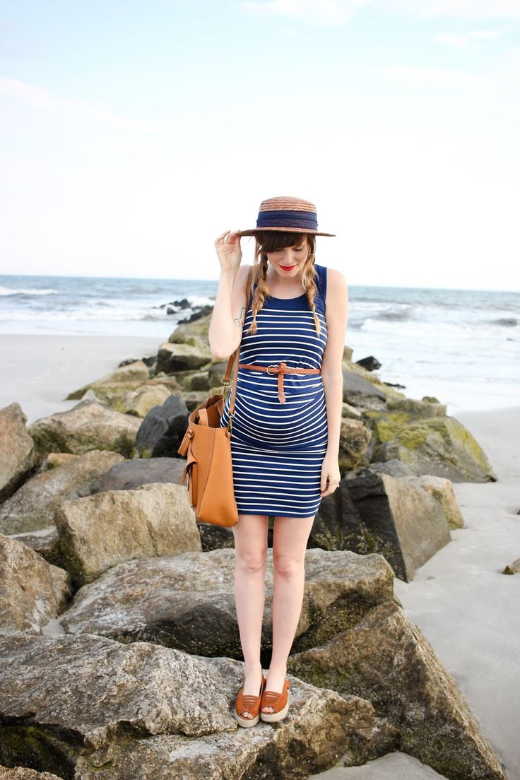 bump style // striped maternity bodycon dress