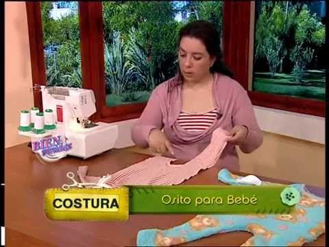 Mariela Cañete - Bienvenidas TV - Explica la costura de un Osito para Bebé. - YouTube