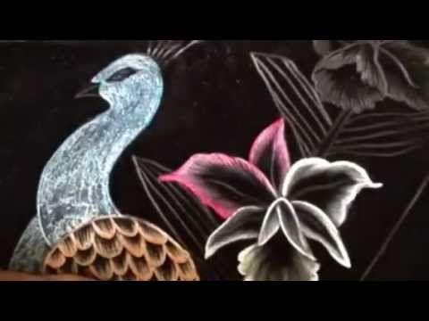 Pirograbado pavorreal # 1 con cony - YouTube
