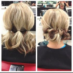 PinTutorials: Easy messy do for a lazy hair day… which is basically everyday now