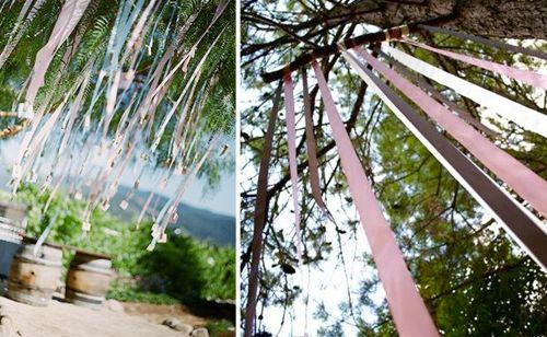 Bruiloft versiering met lint | ThePerfectWedding.nl