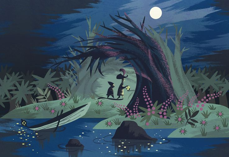 Another illustration by Scott Balmer - based on a Peter Pan concept piece by Mary Blair