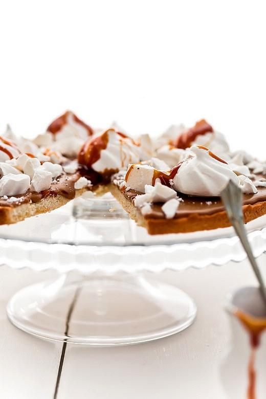 mazurek cOffee tart with salted caramel & meringue