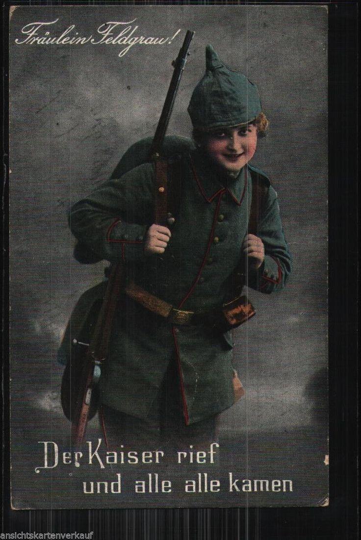 171.407 Frau als Soldat, Pickelhaube, Gewehr, Fräulein Feldgrau
