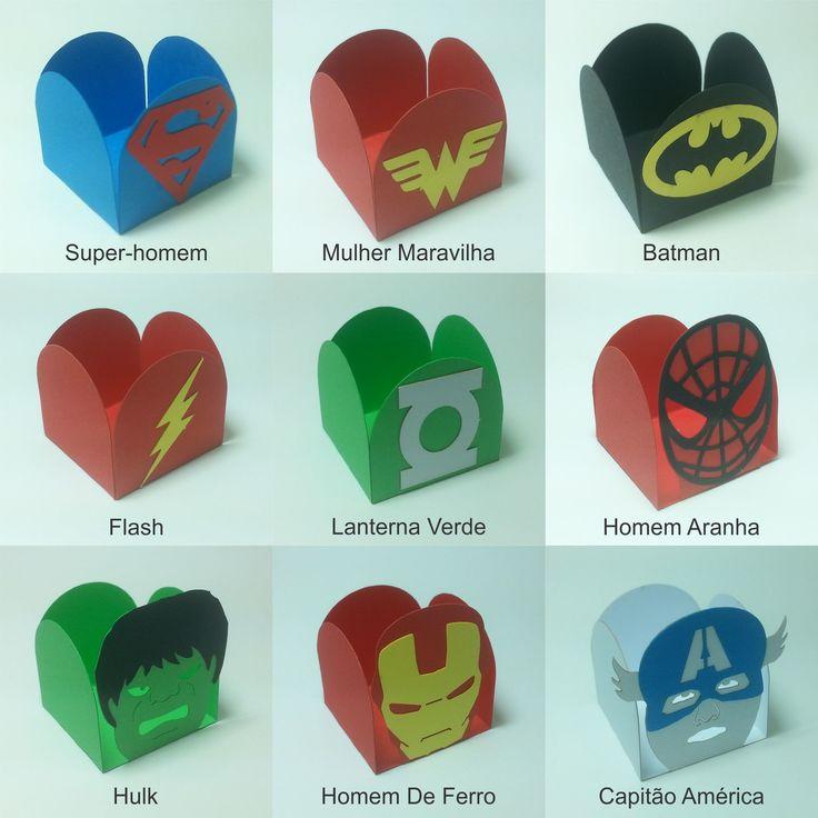 25 Forminhas Tema Super Heróis   EMBALAX   Elo7