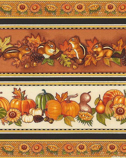 Shades of Autumn - Chipmunk's Harvest Stripe - Nutmeg Brown